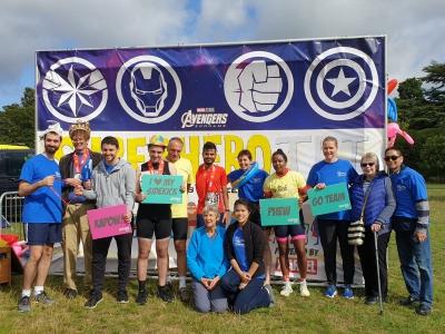 Proud triathlete & supporter Puffins celebrate