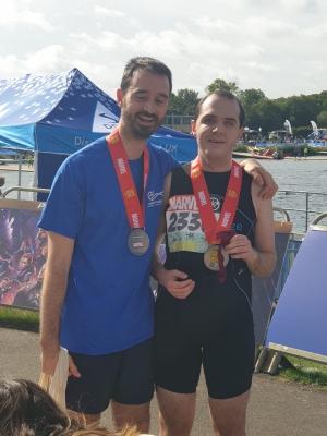 Ricardo & Tom celebrate post race