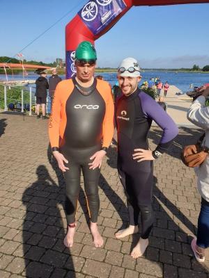 Brandon & Cian pre-swim