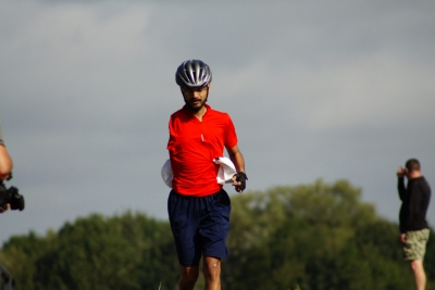 Rohit completes bike course by foot