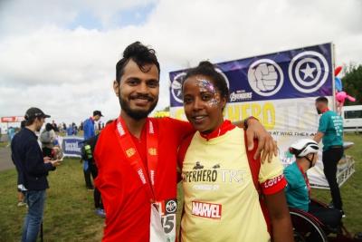 Rohit & Faina post race
